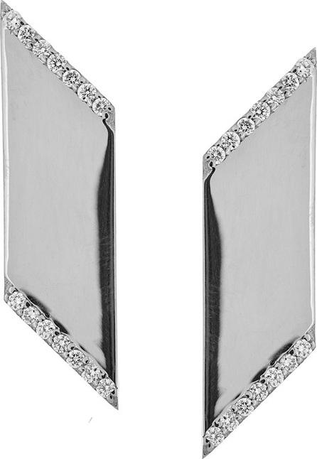 Lana Vanity Expose Diamond Stud Earrings, 14k White Gold