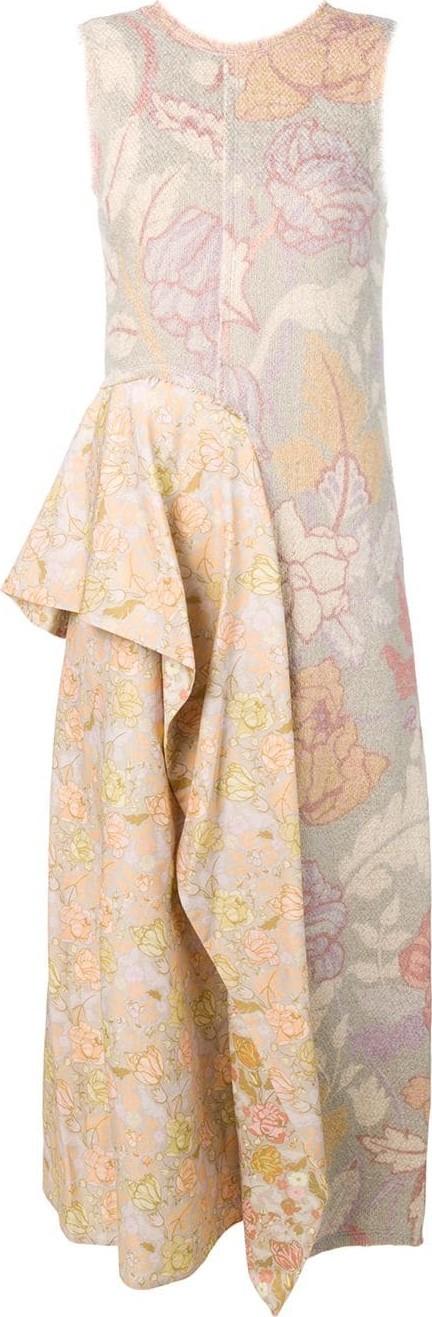 Acne Studios Printed bouclé sleeveless dress