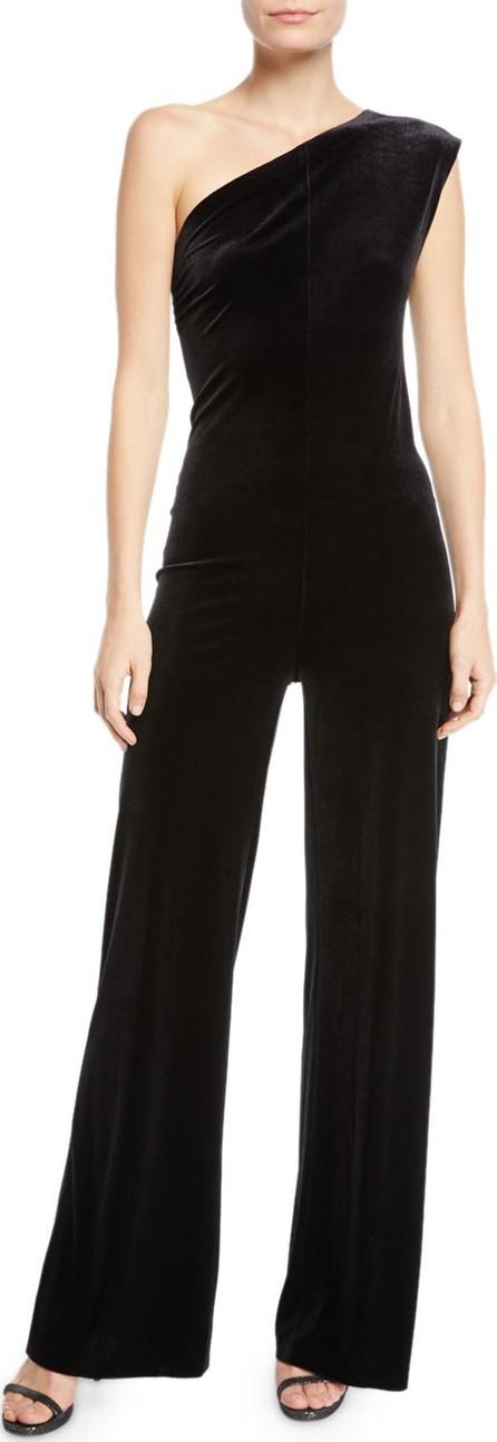 Norma Kamali One-Shoulder Velvet Jumpsuit