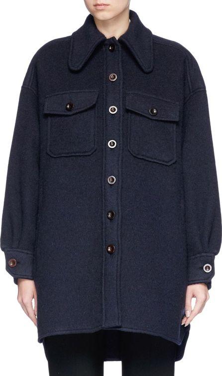 Chloe Oversized wool-mohair melton coat