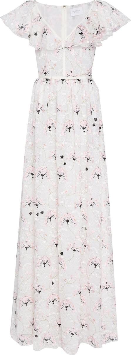 Giambattista Valli Floral-Embroidered Lace Maxi Dress