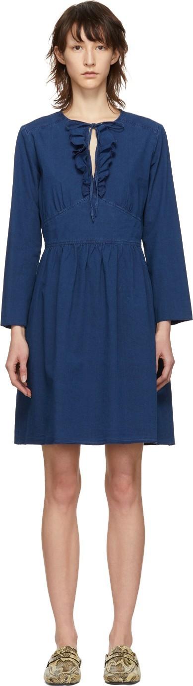 A.P.C. Indigo Poppy Dress