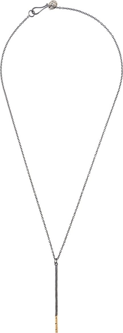 Melissa Joy Manning large stick pendant with 3 diamond detail