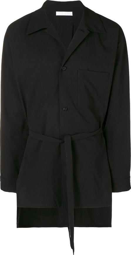 ETHOSENS Belted shirt jacket