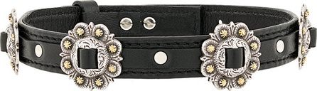 Kate Cate Floral plaque choker necklace