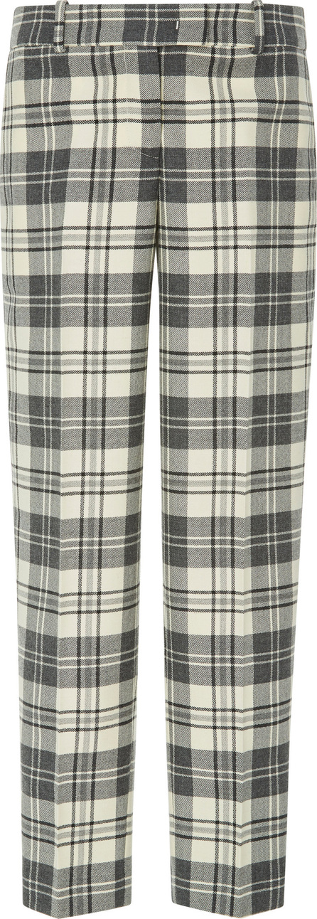 Ermanno Scervino Plaid Straight-Leg Twill Trousers