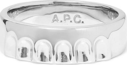 A.P.C. Bottle Cap Silver-Tone Ring