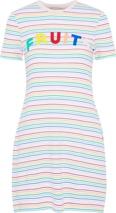 Etre Cecile Printed striped cotton-jersey mini dress