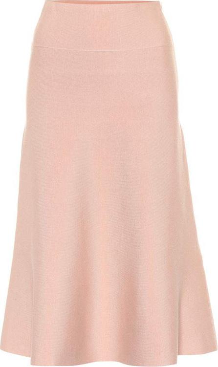 Agnona Wool-blend knit midi skirt