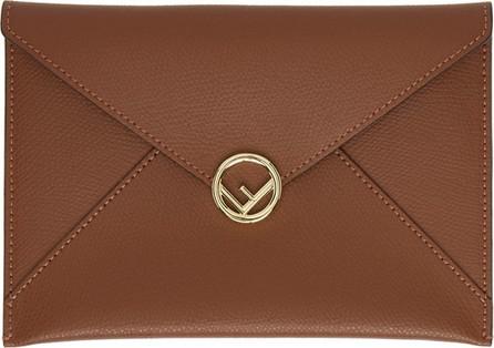 Fendi Brown Medium F is Fendi Envelope Pouch