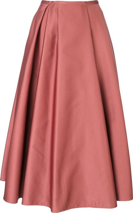 ROCHAS pleated detail midi skirt