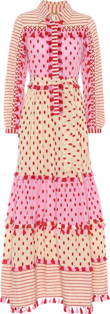 DODO BAR OR Tasselled cotton gauze maxi dress