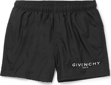 Givenchy Slim-Fit Short-Length Logo-Print Swim Shorts