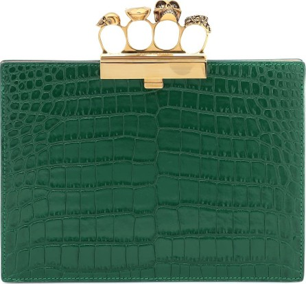 Alexander McQueen Jewelled Four-Ring Small clutch