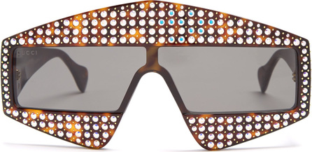Gucci Crystal-embellished acetate sunglasses
