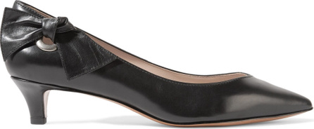 MARC JACOBS Ally bow-embellished leather pumps