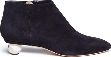 Alchimia Di Ballin 'Nix' orb heel chamois leather booties