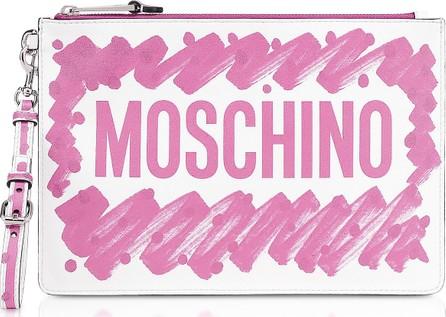 Moschino Brushstroke Signature Clutch