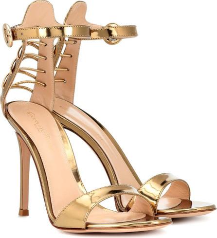 Gianvito Rossi Metmeko metallic leather sandals