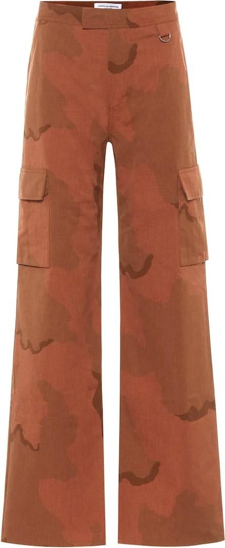 Marine Serre Camouflage cotton high-rise pants