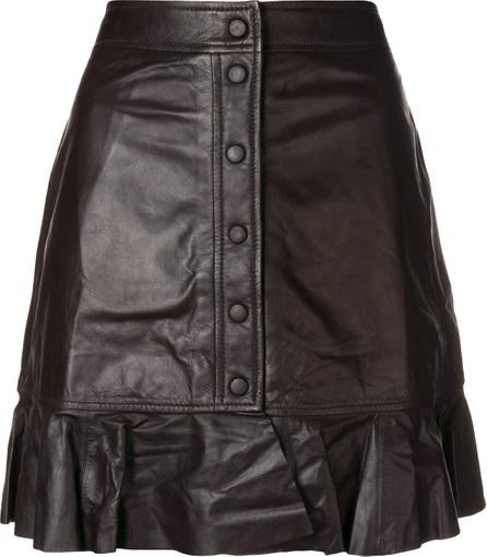 Ganni Gathered buttoned skirt