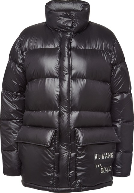 Alexander Wang Oversized Quilted Down Jacket with Embellishment