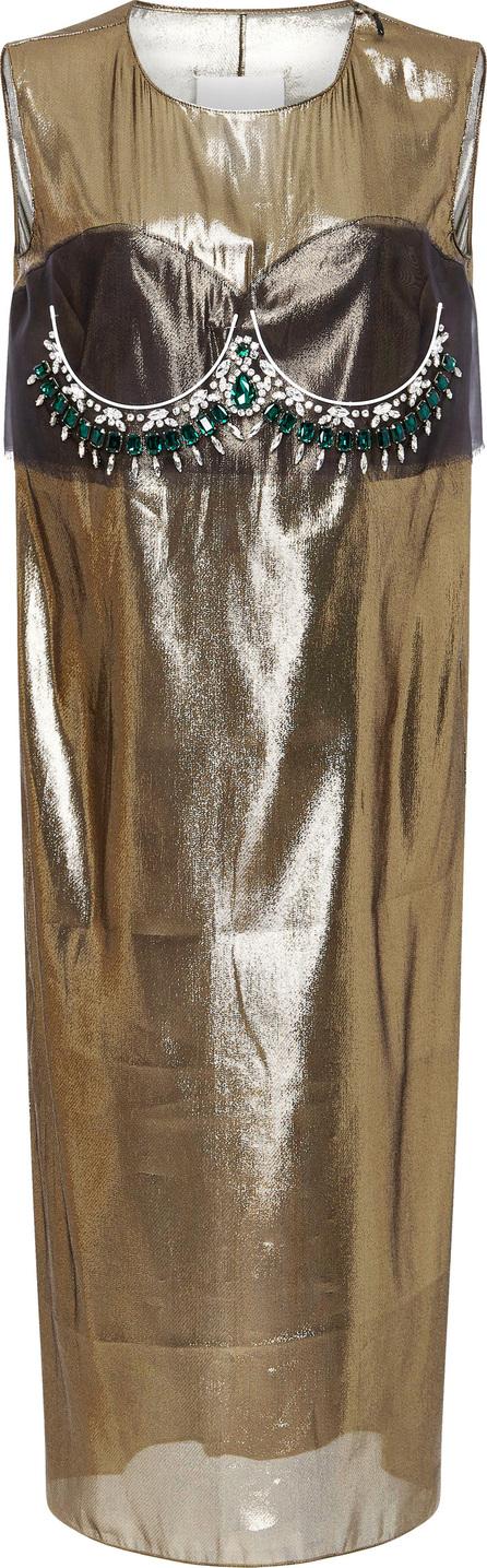 Maison Margiela Embellished Silk-Organza Midi Dress