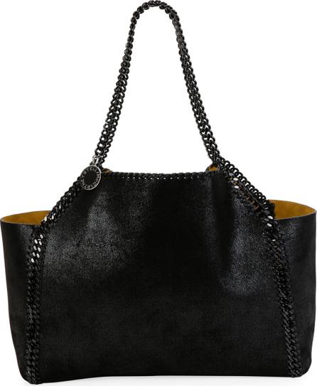 Stella McCartney Falabella Medium Reversible Tote Bag with Black Chain