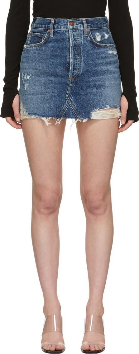 Agolde Blue Quinn Hi-Rise Miniskirt