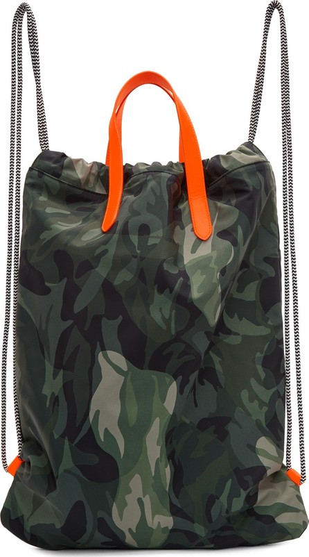 Alexander McQueen Green & Orange Camo Drawstring Backpack