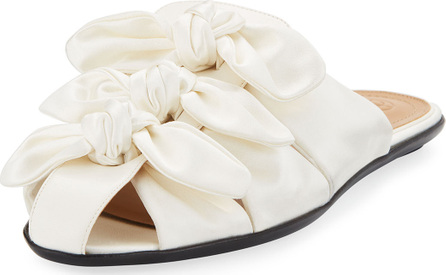 THE ROW Capri Knotted Satin Mule Flat