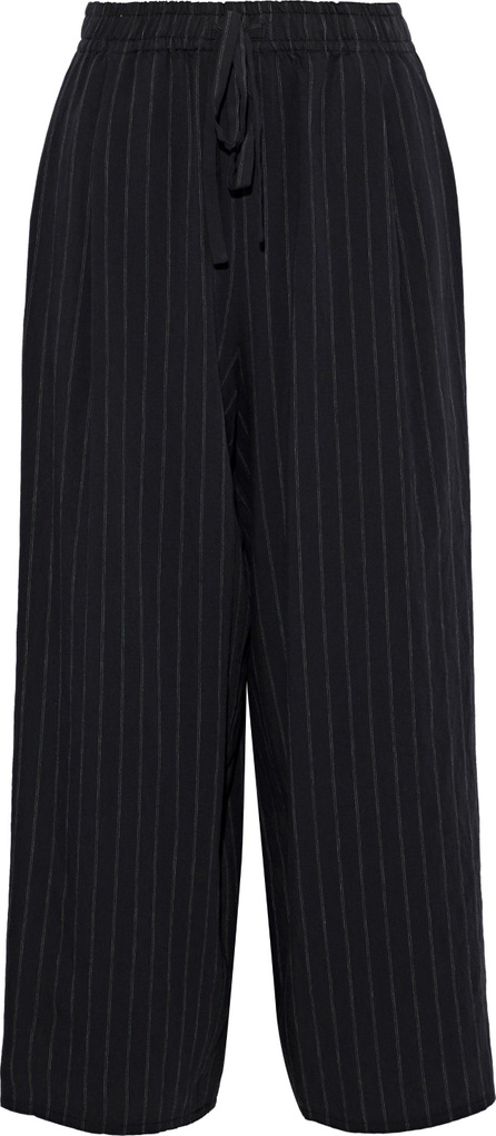 Vince Cropped pinstriped woven straight-leg  pants