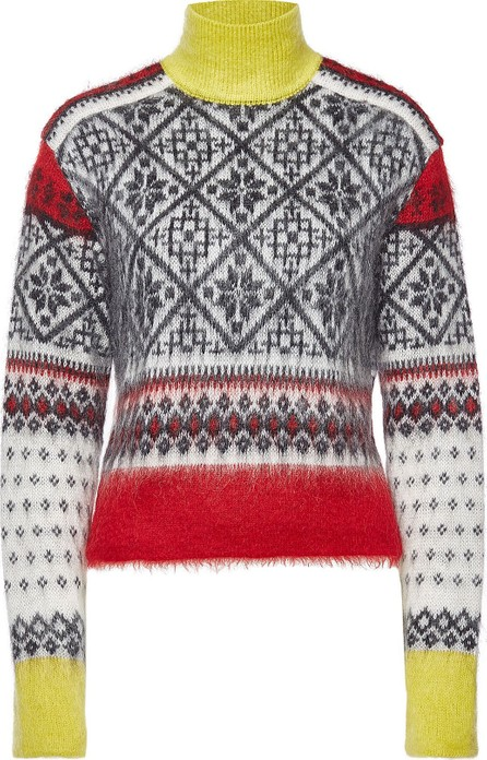 N°21 Printed Pullover with Wool and Mohair