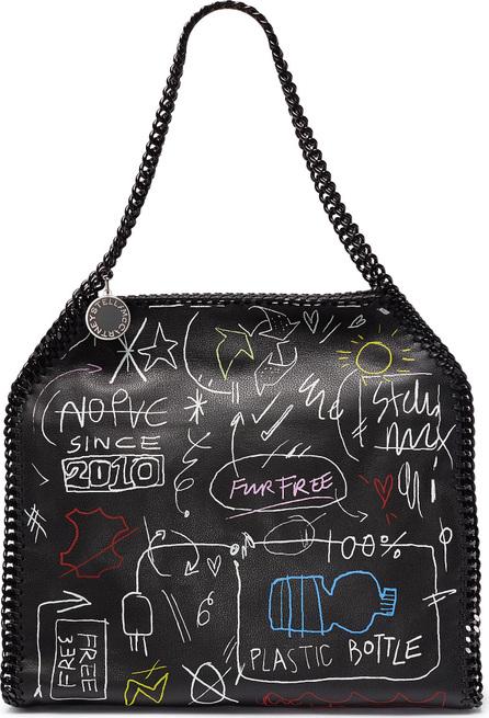 Stella McCartney 'Falabella' small graffiti print faux leather chain tote