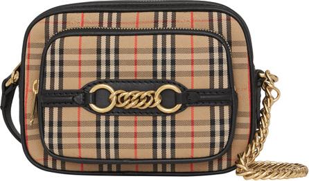 Burberry London England 1983 Link Camera Crossbody Bag