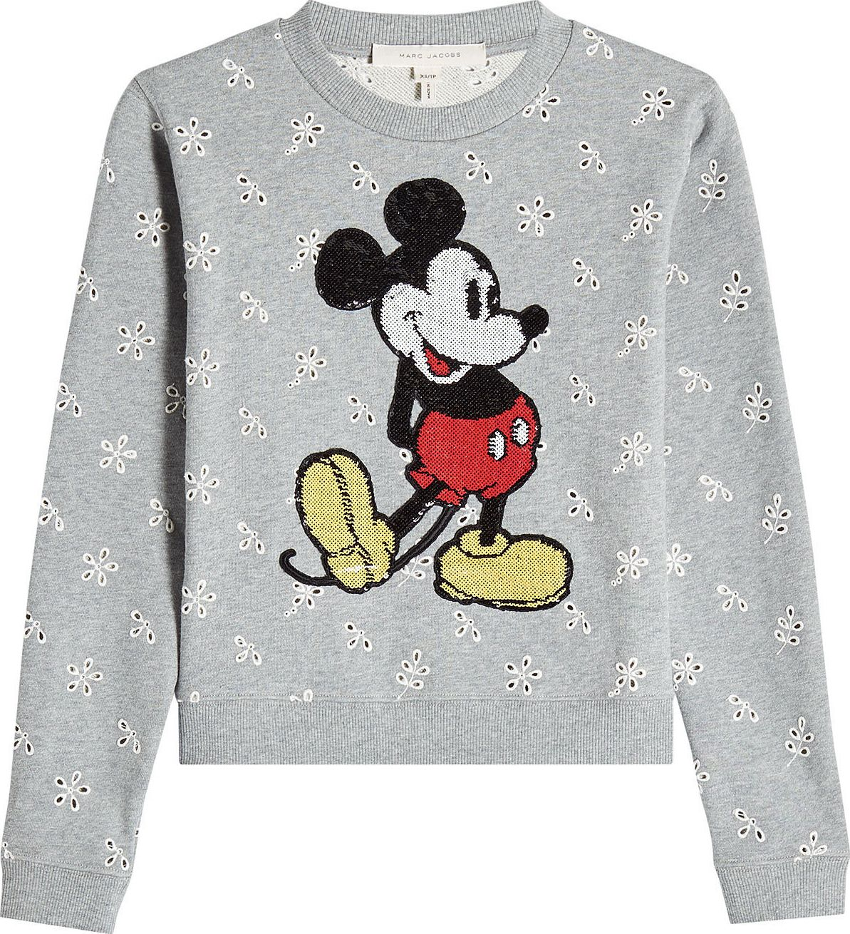 MARC JACOBS - Cotton Sweatshirt with Sequin Embellishment