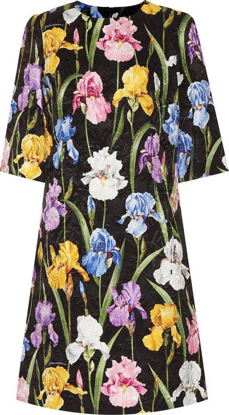 Dolce & Gabbana Floral-printed jacquard dress
