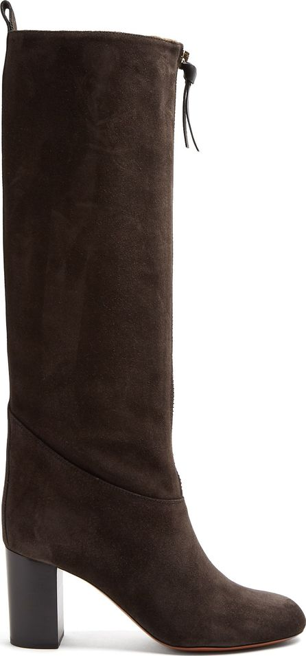 Chloe Paisley suede knee-high boots