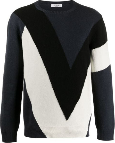 Valentino Knitted colour block jumper