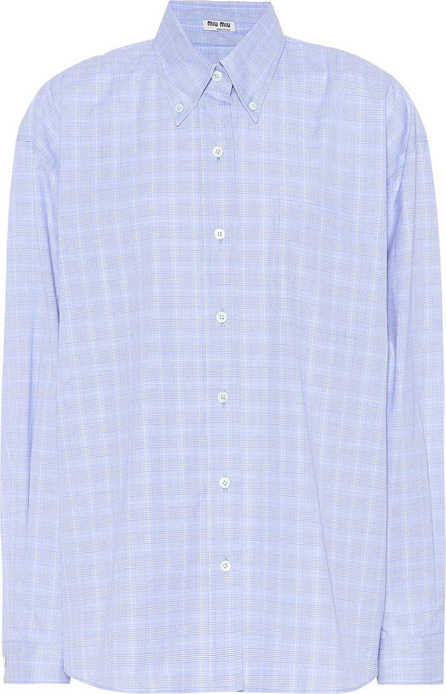 Miu Miu Plaid cotton shirt