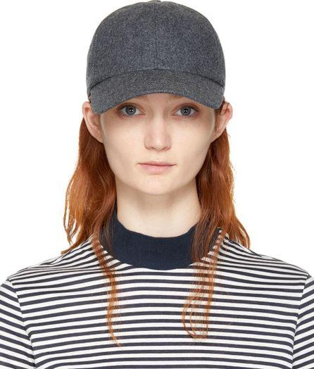 Harmony Grey Wool Arnaud Cap