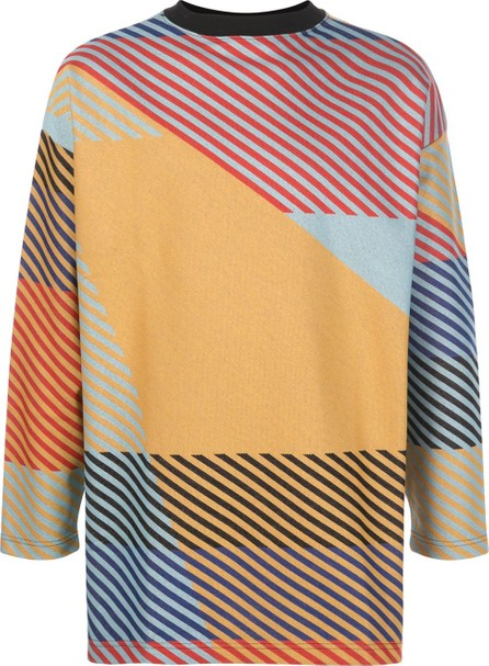 N. Hoolywood Colour-block longline sweatshirt