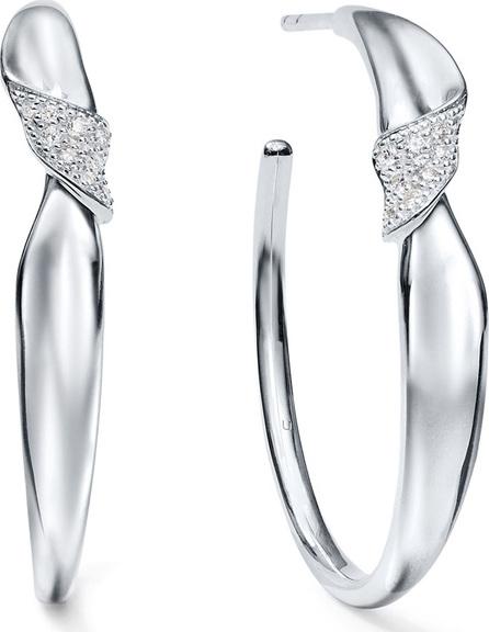 IPPOLITA Classico Stardust Small Folded Hoop Earrings w/ Diamonds