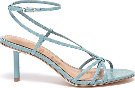Sam Edelman 'Pippa' strappy croc-embossed leather sandals