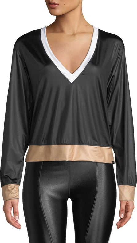KORAL Birdie Colorblock V-Neck Pullover Top