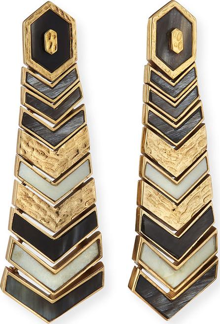 Akola Hexagon Tiered Bone & Horn Earrings