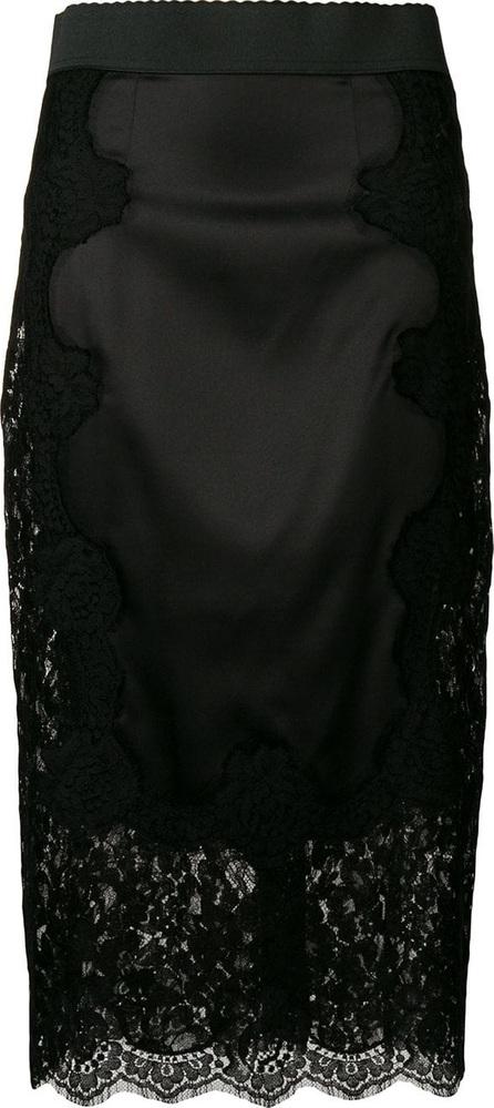 Dolce & Gabbana Lace panelled straight skirt