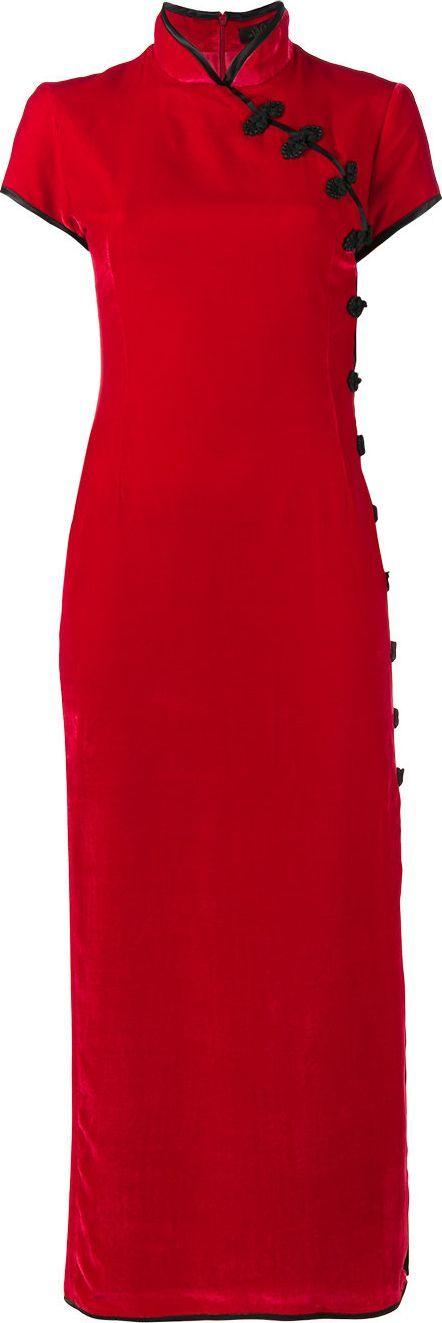 De La Vali Suki Velvet Maxi Dress with Side Split