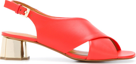 Robert Clergerie Cross-over strap slingback sandals