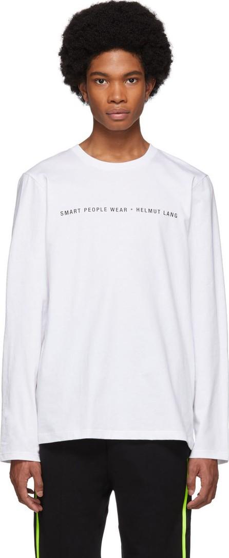 Helmut Lang White 'Smart People' Long Sleeve T-Shirt